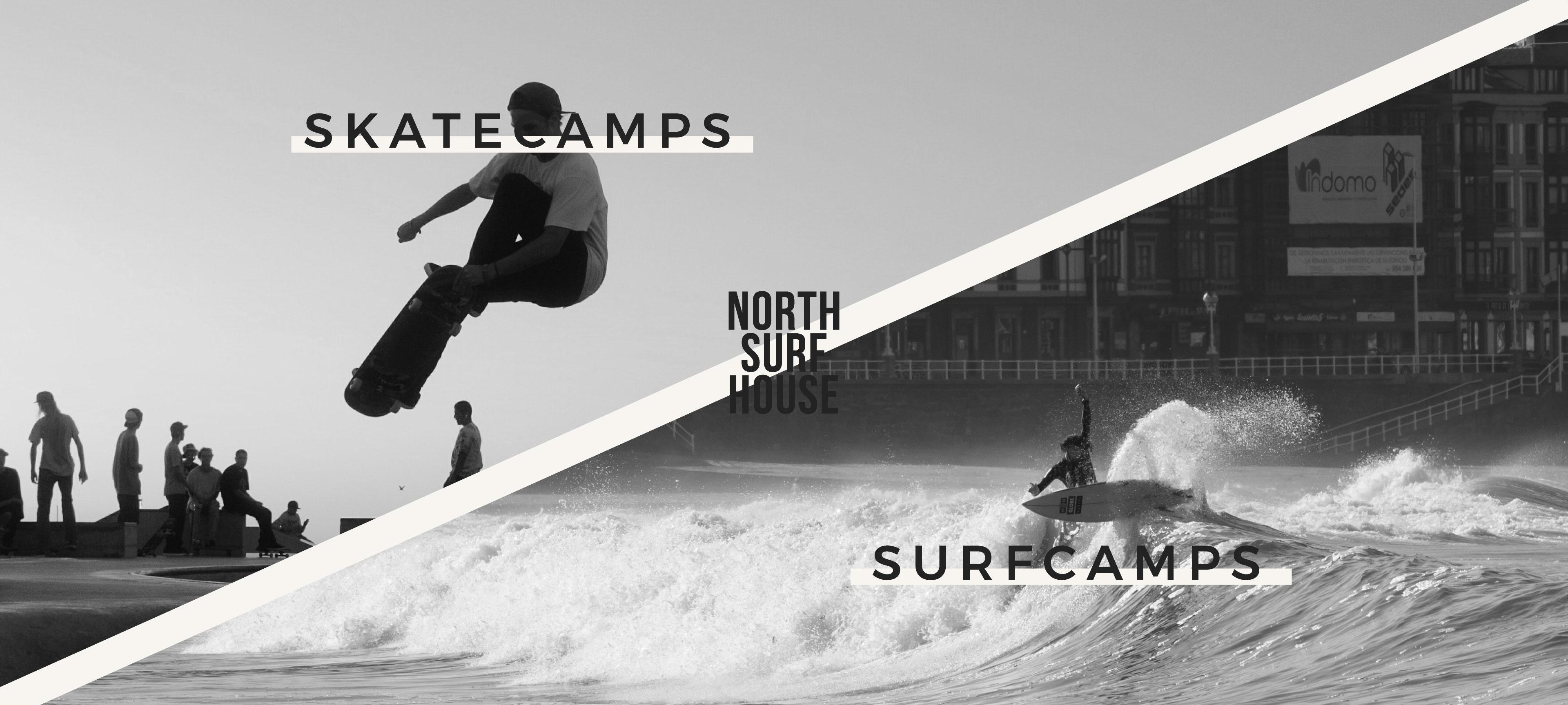 skate camp surf camp gijon